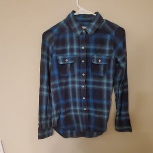 Blue and Teal Flannel